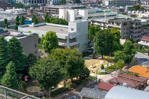 練馬区立美術の森緑地・練馬区立美術館(俯瞰)の写真素材 [FYI01679909]