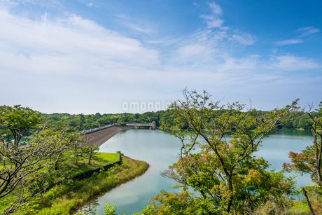 村山上ダムと多摩湖の写真素材 [FYI01680754]