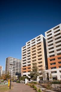 新興住宅地の高層マンションの写真素材 [FYI01680801]