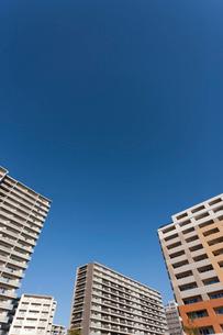 新興住宅地の高層マンションの写真素材 [FYI01680925]