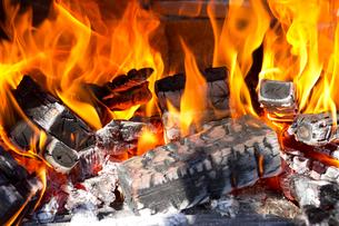 焚き火の炎の写真素材 [FYI01681207]