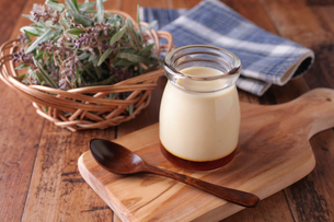 牛乳プリンの写真素材 [FYI01681309]