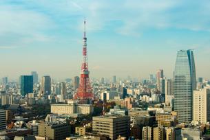 東京タワーと富士山の写真素材 [FYI01681430]