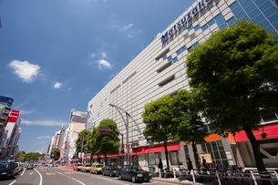 松坂屋上野店と中央通りの写真素材 [FYI01681555]