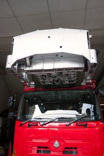 消防自動車 はしご車の写真素材 [FYI01681690]