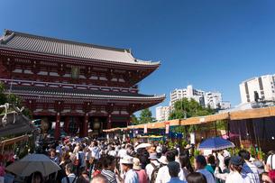 ほおずき市で賑わう浅草寺の写真素材 [FYI01681756]