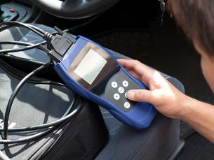 自動車の故障診断の写真素材 [FYI01681765]