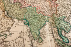 古地図 インドの写真素材 [FYI01681952]