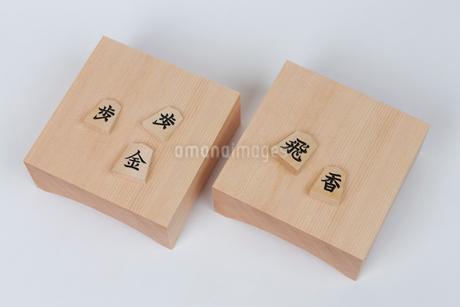 将棋 駒台と駒の写真素材 [FYI01682064]