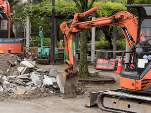 道路の補修工事の写真素材 [FYI01682413]