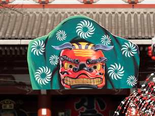 浅草 仲見世の正月飾りの写真素材 [FYI01682503]