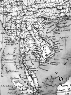 古地図 インドシナ半島の写真素材 [FYI01682544]