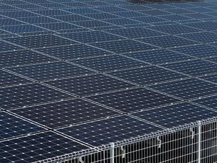 太陽光発電施設の写真素材 [FYI01682574]