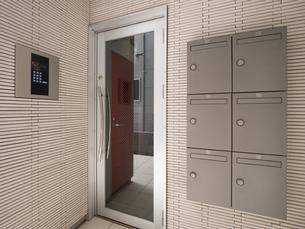 アパートの玄関の写真素材 [FYI01682663]