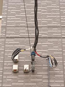 電線の引き込みの写真素材 [FYI01682665]