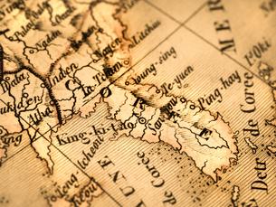 古地図 朝鮮半島の写真素材 [FYI01682673]