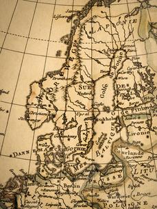 古地図 北ヨーロッパの写真素材 [FYI01682685]