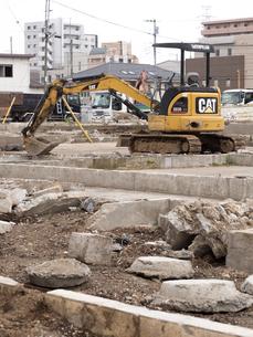 住宅の取り壊し工事の写真素材 [FYI01682806]