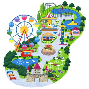 遊園地のイラスト素材 [FYI01682914]