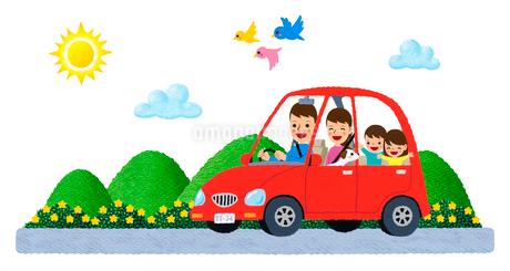 家族でドライブのイラスト素材 [FYI01682922]