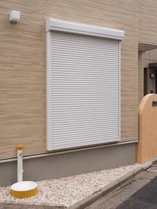 住宅の防火シャッターの写真素材 [FYI01683150]
