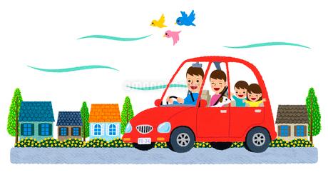 車で家族でお出掛けのイラスト素材 [FYI01683217]