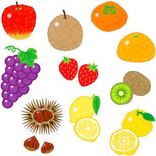 果物いろいろのイラスト素材 [FYI01683267]
