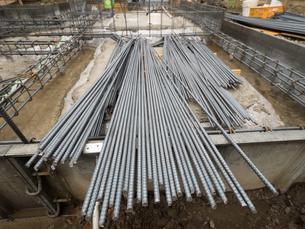 建物の基礎工事の写真素材 [FYI01683682]