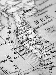 古地図 カムチャッカ半島の写真素材 [FYI01683889]