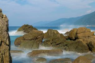 越前海岸、弁慶の洗濯岩の写真素材 [FYI01684468]