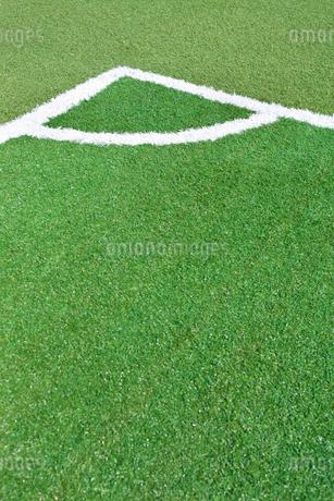 サッカー練習場の白線ラインの写真素材 [FYI01684477]
