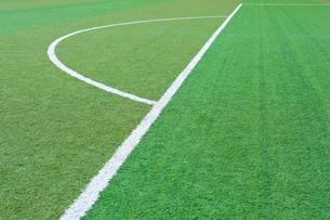 サッカー練習場の白線ラインの写真素材 [FYI01684897]