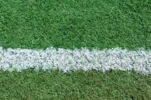 サッカー練習場の白線ラインの写真素材 [FYI01685035]