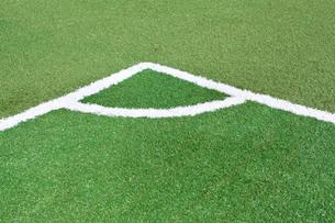 サッカー練習場の白線ラインの写真素材 [FYI01685282]