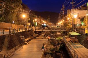 玉造温泉の夕景の写真素材 [FYI01685536]
