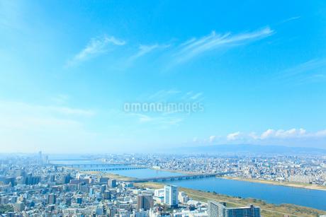 青空と街並の写真素材 [FYI01685560]