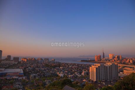 福岡の夕景の写真素材 [FYI01685780]