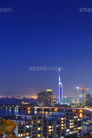 福岡の夜景の写真素材 [FYI01685846]