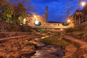 玉造温泉の夕景の写真素材 [FYI01685895]