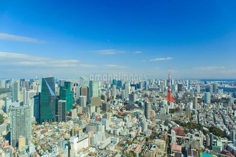 東京の街並みと東京タワーの写真素材 [FYI01686092]
