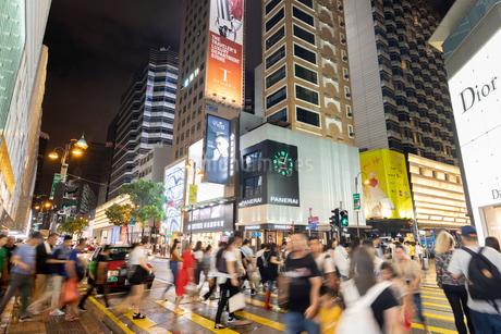 夜の香港 尖沙咀の写真素材 [FYI01686424]