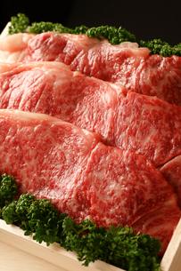 牛肉詰め合わせアップの写真素材 [FYI01686567]