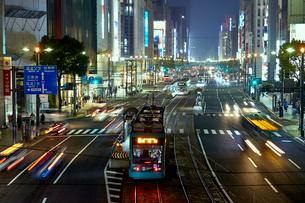 夜の広島 八丁堀の写真素材 [FYI01686648]
