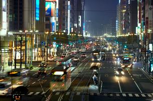 夜の広島 八丁堀の写真素材 [FYI01686751]