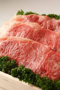 牛肉詰め合わせアップの写真素材 [FYI01686778]