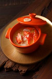 タラバガニの茶碗蒸しの写真素材 [FYI01687105]