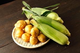 トウモロコシとジャガイモの写真素材 [FYI01687763]