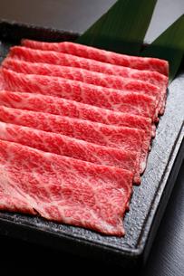 牛肉すき焼き用の写真素材 [FYI01687793]