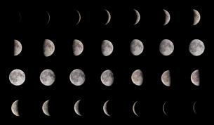 月の満ち欠けの写真素材 [FYI01688001]
