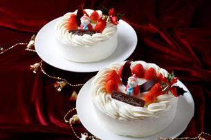 クリスマスケーキ集合の写真素材 [FYI01688107]